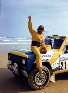 Hemos llegado a Dakar. Miguel Prieto 1987