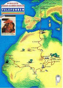 Recorrido Dakar 1987 Miguel Prieto